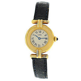Cartier Must de Cartier Vermeil 136514 Silver Gold Plaque Quartz 24MM Watch