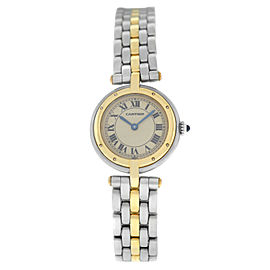 Cartier Panthere Vendome 1057920 One Row Gold Steel Quartz 24MM Watch