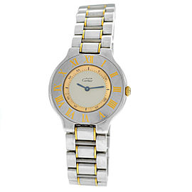 Cartier Must de Cartier Ladies Gold Stainless Steel 32MM Quartz Watch