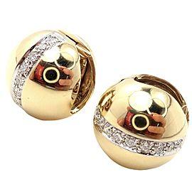 Pomellato 18k Yellow Gold Diamond Globe Hug Earrings