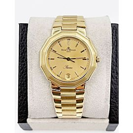 Baume Mercier Riviera Ref 87012 34mm 18K Yellow Gold Box Papers