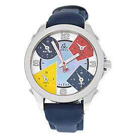 Jacob & Co. Five 5 Time Zone JCM-7 MOP Stainless Steel 40MM Watch