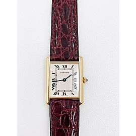Cartier Tank Louis Ref 1140 2 18K Yellow Gold Leather Strap