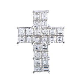 Odelia 18K White Gold Emerald, Diamond Pendant
