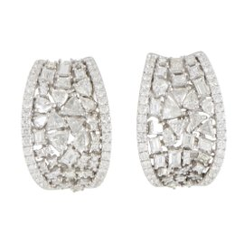 Odelia 18K White Gold with 5.16ct Diamond Earrings