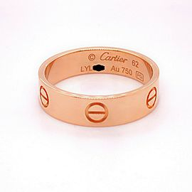 Cartier LOVE Wedding Band Ring 18kt Pink Gold