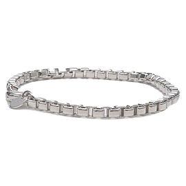Authentic Tiffany&Co. Venetian Link Bracelet Chain Bracelet Silver 925 Used F/S