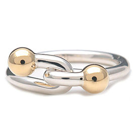 Authentic Tiffany & Co. Twist Wire Ring SV925 750YG US4 HK8.5 EU47 Used F/S