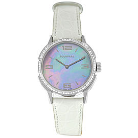 Tourneau TNY Roventa TNY350707009 Ladies Diamond MOP Steel 35MM Quartz Watch