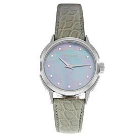 Tourneau TNY Roventa TNY350701014 Ladies Diamond MOP Steel 35MM Quartz Watch