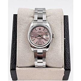 Rolex Ladies Datejust 179160 Pink Dial Stainless Steel