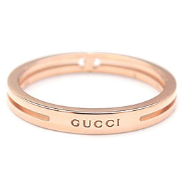 Authentic GUCCI Infinity Ring K18 750 Rose Gold #8 US4.5 HK9.5 EU48 Used F/S