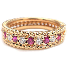 Authentic Christian Dior Ruby Diamond Ring Yellow Gold US5.5-6 EU51 Used F/S