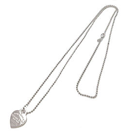 Authentic Tiffany&Co. Return to Tiffany Heart Tag Necklace Sliver 925 Used F/S