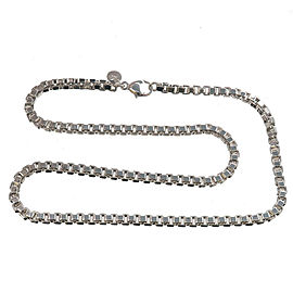 Authentic Tiffany&Co. Venetian Link Nacklace SV925 Silver 925 Used F/S
