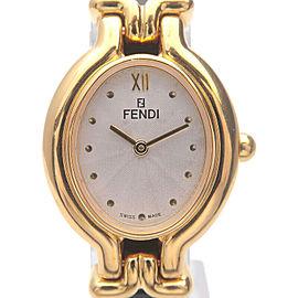 Authentic FENDI Ladies Changeable Leather Belt Wrist Watch Quartz 640L Used F/S