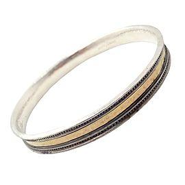 Authentic! Gurhan 24k Yellow Gold Sterling Silver Bangle Bracelet