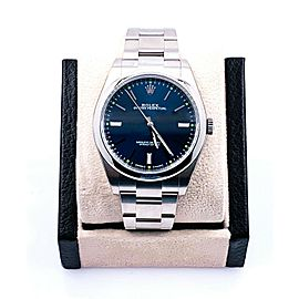 Rolex 114300 Oyster Perpetual Blue Dial Steel Box Papers 2019
