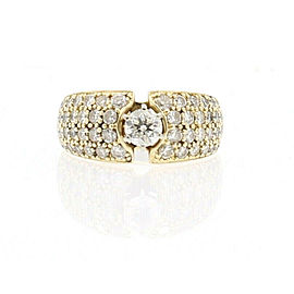 Fine Estate 14k Yellow Gold 1.0ct Solitaire Cluster Ladies Ring Size 6.5