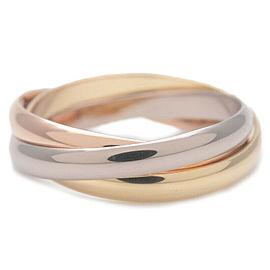 Authentic Cartier Trinity Ring K18 750 YG/WG/PG #54 US7 HK15.5 EU54.5 Used F/S