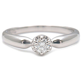 Authentic 4℃ 1P Diamond Ring PT950 Platinum US4 HK8.5 EU47 Used F/S