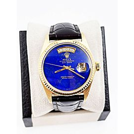 Rolex 1803 President Day Date Lapis Lazuli Dial 18K Yellow Gold Leather Band