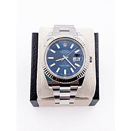 Rolex Datejust 41 Blue Dial 116334 Stainless Steel
