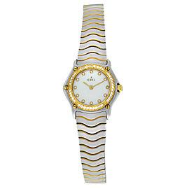 Ebel Classic Wave 166901 MOP 18K Yellow Gold Diamonds Steel 23MM Quartz Watch