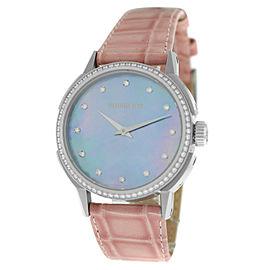 Tourneau TNY Roventa TNY350707013 Ladies Diamond MOP Steel 35MM Quartz Watch