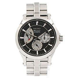 SEIKO Premier Power Reserve Day-Date 42mm steel Automatic Men's watch 6R20-00A0