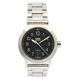 Oris BC3 Sportsman Day Date 7640 Black Dial Stainless Steel Automatic Watch