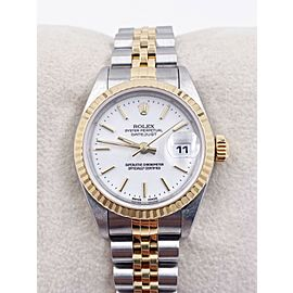 Rolex Ladies Datejust 79173 White Index Dial 18K Yellow Gold Stainless Steel
