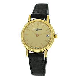 Ulysse Nardin 181-22-9 Ladies 18K Yellow Gold Date Automatic 26MM Watch