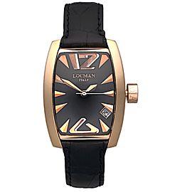 Locman Panorama REF 153 Ladies 18K Rose Gold Quartz 29 x 39mm Watch