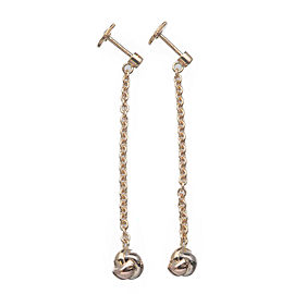 Authentic Cartier Baby Trinity 1P Diamond Earrings K18 750 YG/WG/PG Used F/S