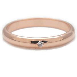 Authentic Cartier Wedding Ring 1P Diamond Rose Gold #49 US5 HK10.5 EU49 Used F/S