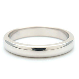 Authentic Tiffany&Co. Classic Band Ring PT950 Platinum US4.5 HK9.5 EU48 Used F/S