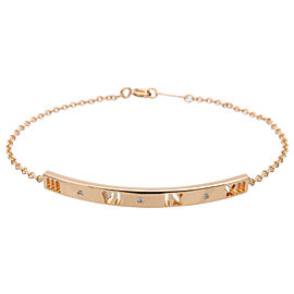 Authentic Tiffany&Co. Atlas 3P Diamond Bracelet K18 750PG Rose Gold Used F/S