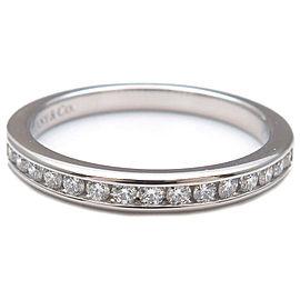 Authentic Tiffany&Co. Half Circle Channel-set Diamond Ring Platinum US4 Used F/S