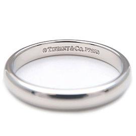 Authentic Tiffany&Co. Classic Band Ring Platinum US7-7.5 HK16 EU55.5 Used F/S