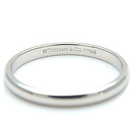 Authentic Tiffany&Co. Classic Band Ring PT950 Platinum US5 HK10.5 EU49 Used F/S