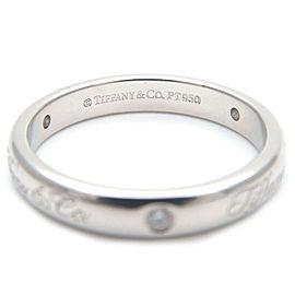 Authentic Tiffany & Co. Notes Lucida 3P Diamond Ring Platinum US4.5 Used F/S
