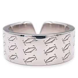 Authentic Cartier 2C Ring K18WG 750WG White Gold #53 US6.5-7 HK15 EU54 Used F/S