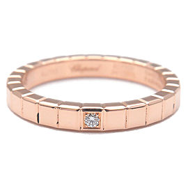 Authentic Chopard Ice Cube 1P Diamond Ring Rose Gold US4-4.5 HK9 EU47.5 Used F/S