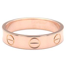 Authentic Cartier Mini Love Ring K18 750 Rose Gold #47 US4-4.5 HK9 EU47 Used F/S