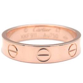 Authentic Cartier Mini Love Ring Rose Gold K18 #47 US4-4.5 HK9 EU47.5 Used F/S