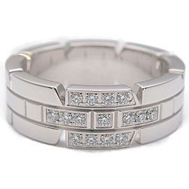 Authentic Cartier Tank Francaise Diamond Ring White Gold #49 US5 EU49.5 Used F/S