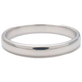 Authentic Tiffany&Co. Lucida Band Ring PT950 Platinum US8.5 HK19 EU58.5 Used F/S