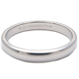 Authentic Tiffany&Co. Lucida Band Ring PT950 Platinum US17.5 HK58 EU58 Used F/S