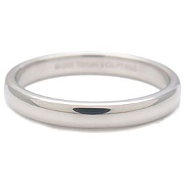 Authentic Tiffany&Co. Lucida Band Ring PT950 Platinum US8 HK17.5 EU57 Used F/S
